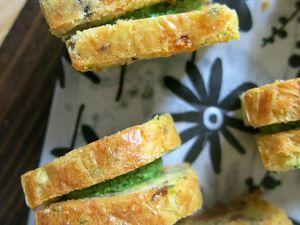 Minis Cakes aux Olives , Crème de Cresson