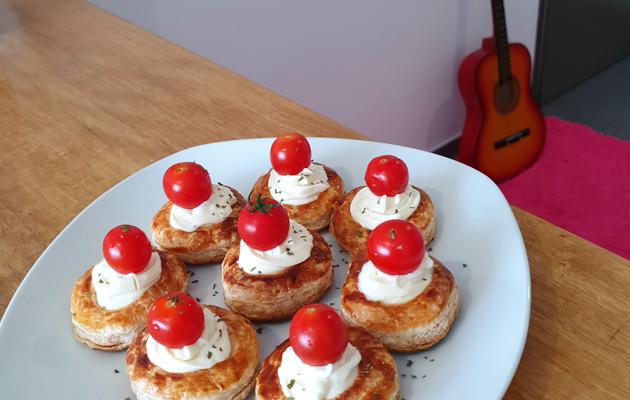 Mini four au fromage kiri et tomates cerises