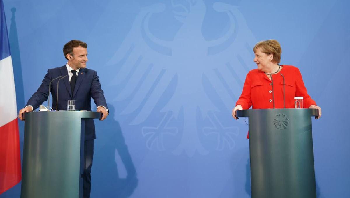 Euro 2021: Merkel et Macron appellent à la vigilance