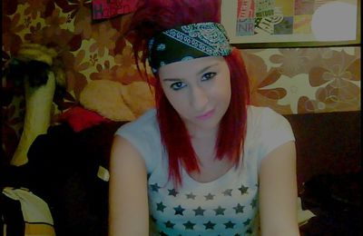 New hairstyle,Red hair. :))