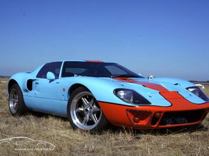 Dans l'ordre : DRB GT40, Pace GT, Roaring Forties GT40, DC&O GT40