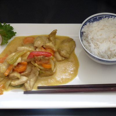 Poulet au curry (chinois)