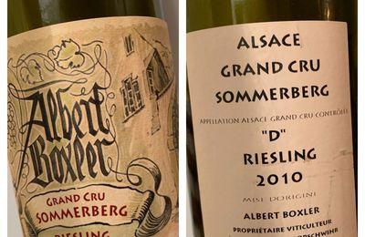 Alsace Grand Cru Sommerberg Riesling « D » Albert Boxler