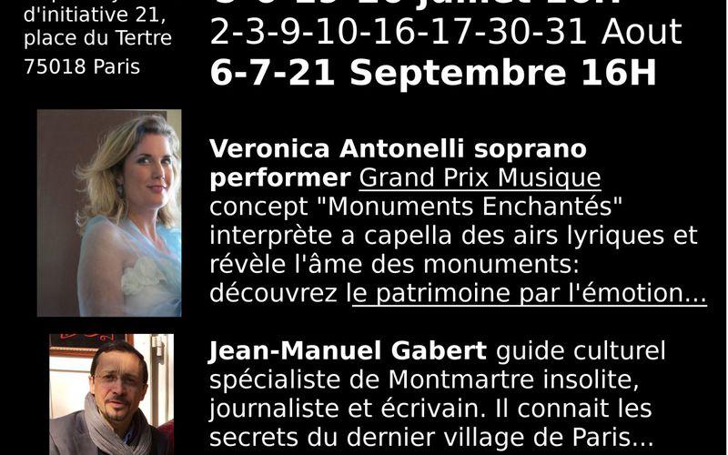 """Le Figaro """"Visiter Montmartre avec une chanteuse lyrique"""" 20 juin 2014"""