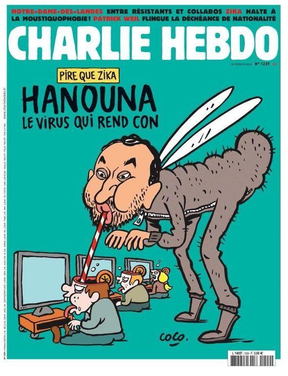 Hanouna le virus qui rends con a la une de Charlie Hebdo ! #TPMP