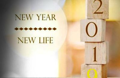 New Year - New Life - 2019 - Happy New Year - Cubes - Bois - Picture - Free