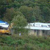 ALGRANGE: Démantelement des ateliers du jour de la mine La Paix (ex Sainte-Barbe)