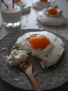 Oeufs aux plats façon Pavlova