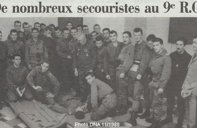 Archive 1988 : Secouristes au 9ème RG