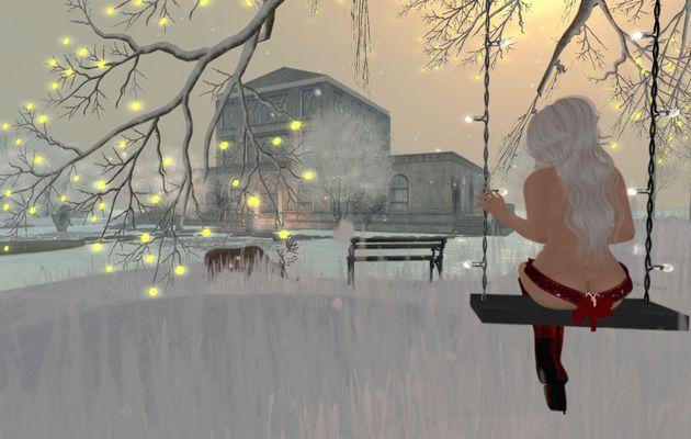 Paysage d'hiver avec Fredylajoie