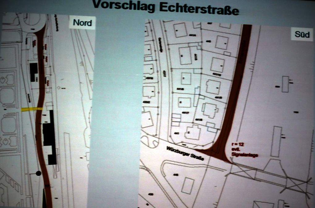 Eine Fußgängerzone in der Kirchstraße erfordert Ausbaumaßnahmen in der Echterstraße