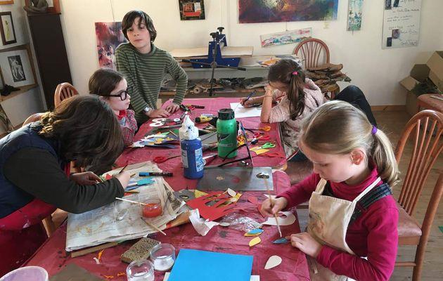 Gravure & arts plastiques / Enfant