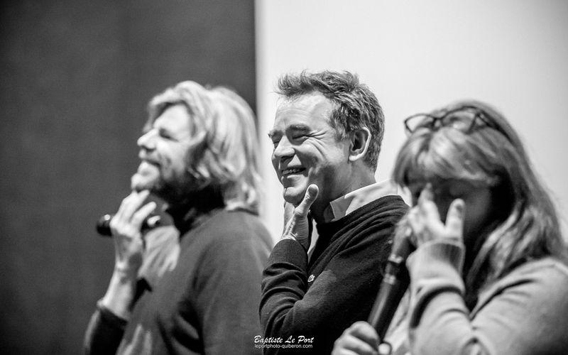 """6 janvier - Guillaume Detonquedec et Eric Besnard à Quiberon pour présenter son nouveau film """"l'esprit de famille"""""""