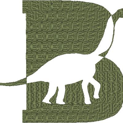 ABC dinosaure, la lettre B