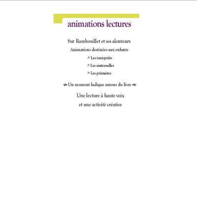 Animations lectures