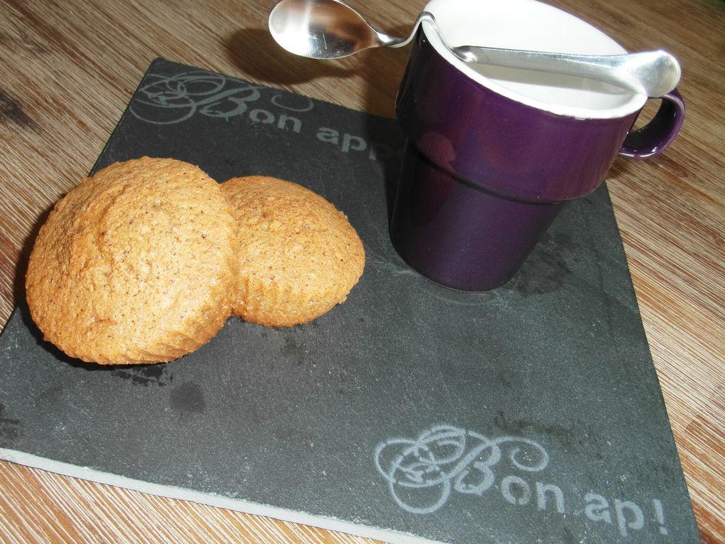 Avec la même pâte, je confectionne aussi des muffins. La cuisson se réduit alors à 15 minutes maximum.