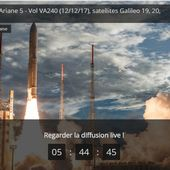 LANCEMENT D'ARIANE 5 : en Live lancement de 4 satellites GALILEO concurrents de GPS - Vive l'Europe ! Dare to be better ? OK ! - OOKAWA Corp.