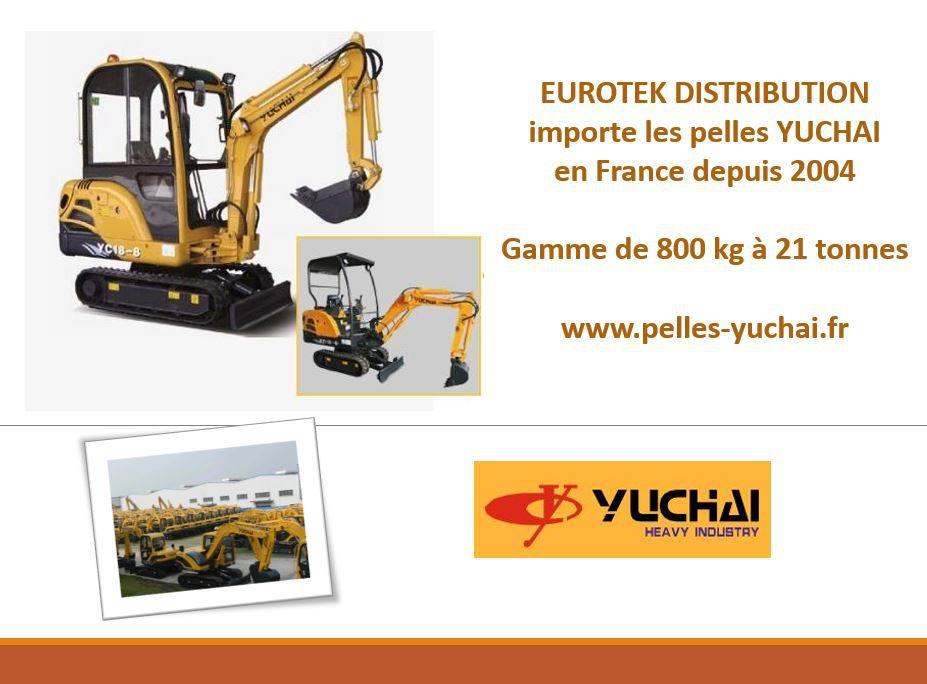 Eurotek importe les pelles Yuchai en France