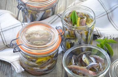 Anchois frais à l'huile d'olive