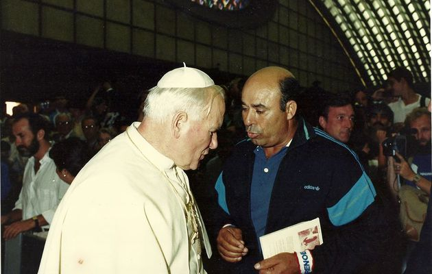 15 juillet 1987 , le jour ou Mr Brahim Sadouni rencontra le pape Jean Paul II