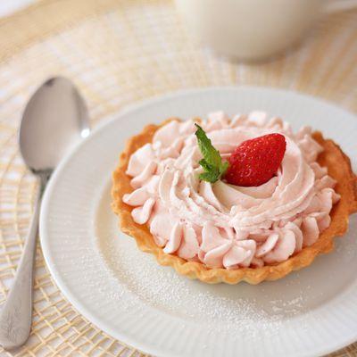 Tartelette à la mousse de fraise