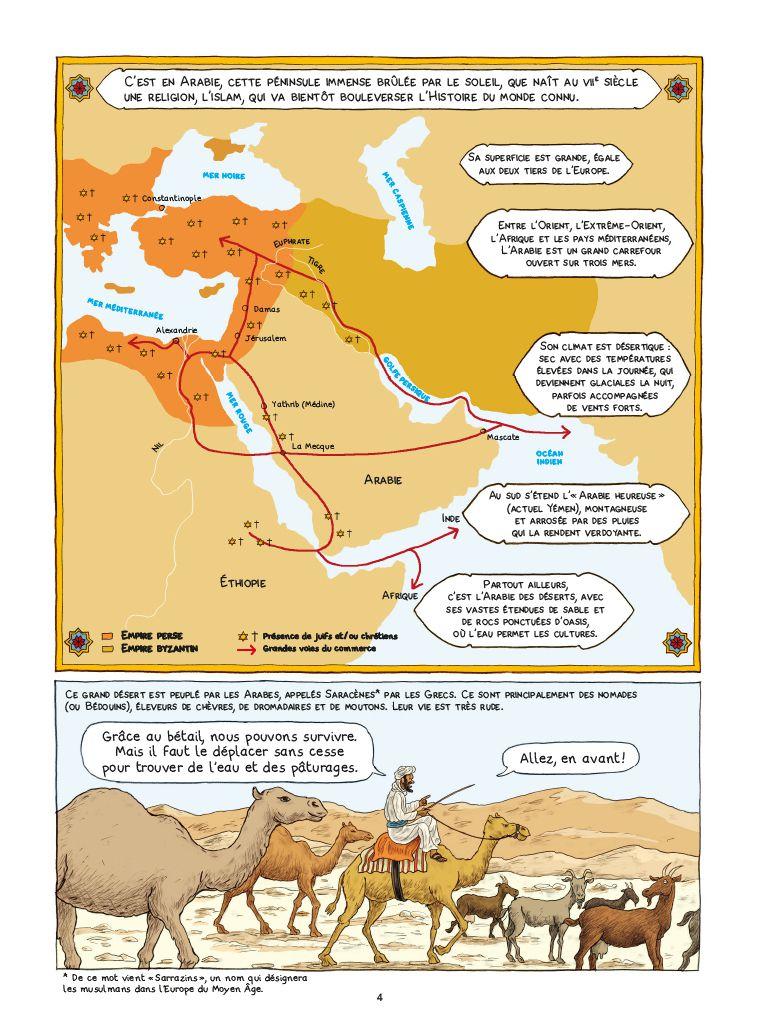 Aux premiers siècles de l'Islam, Dominique Joly, Emmanuel Olivier, Casterman, 2020