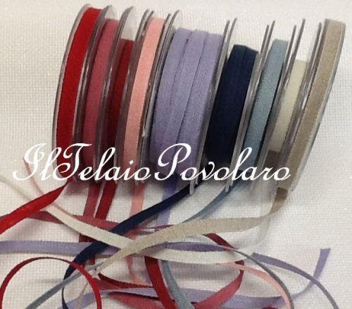 Assortimento disponibile di bordini in lino da 8 mm.