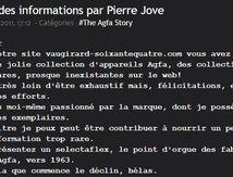 Agfa, des informations par Pierre Jove