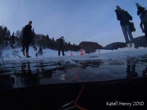 plongée sous glace / Lac de Genin / photos Katell Henry