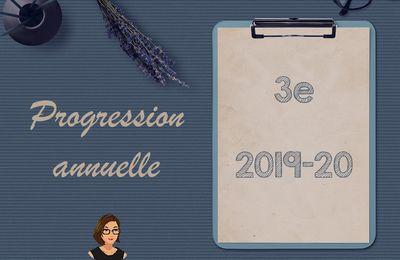 Progression annuelle de 3è - 2019-2020