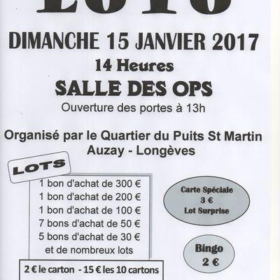 Loto Quartier du Puits St Martin - Auzay - Longèves
