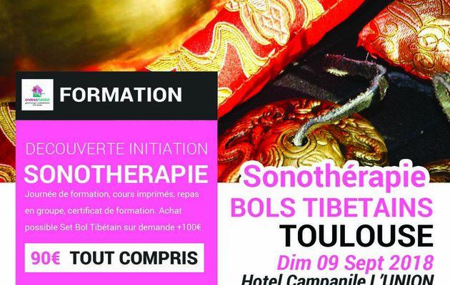 """TOULOUSE - Formation Sonotherapie """"BOLS TIBETAINS, utilisation CORPS et CHAKRAS"""" en Midi pyrénées"""