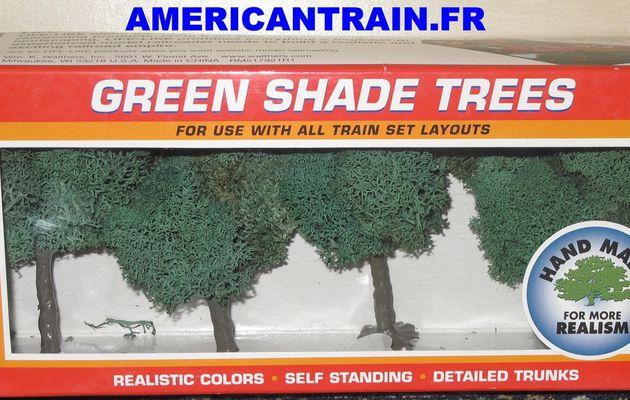 Pack de 4 arbres verts 9cm HO/N/O/S Life-Like