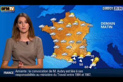 [2012 10 08] FANNY AGOSTINI - BFM TV - LA METEO @21H15
