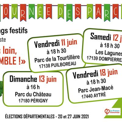 Agenda de campagne FI pour les élections départementales du canton d'Aytré