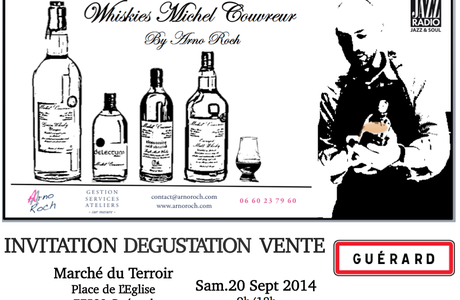 INVITATION DEGUSTATION VENTE Whiskies Michel Couvreur