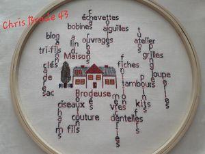"""SAL """"TAMBOUR DE BRODEUSE"""" - Photos de l'objectif 10 - 1ère partie"""