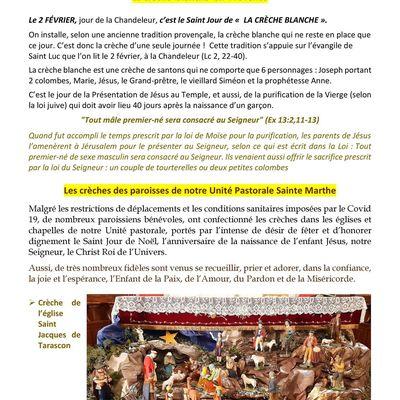 Crèches de l'Unité Pastorale Sainte Marthe