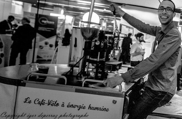café vélo à énergie humaine