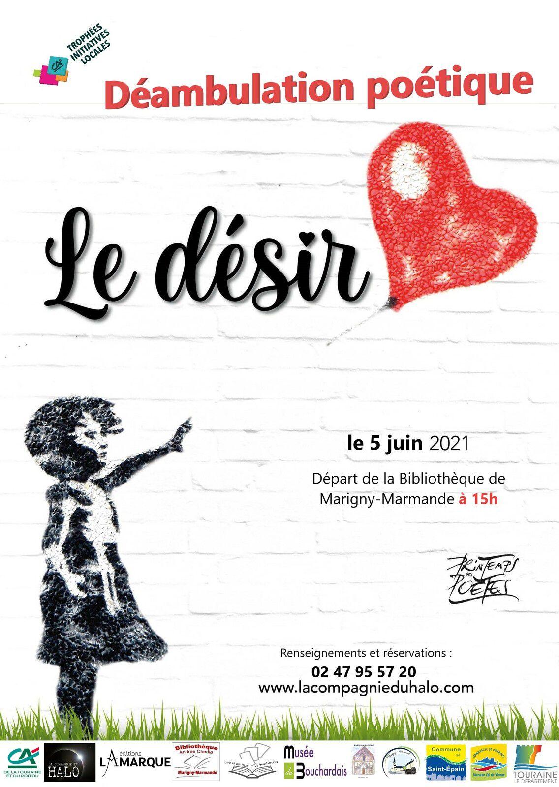Déambulation poétique à Marigny-Marmande à 15 h le 5 juin 2021
