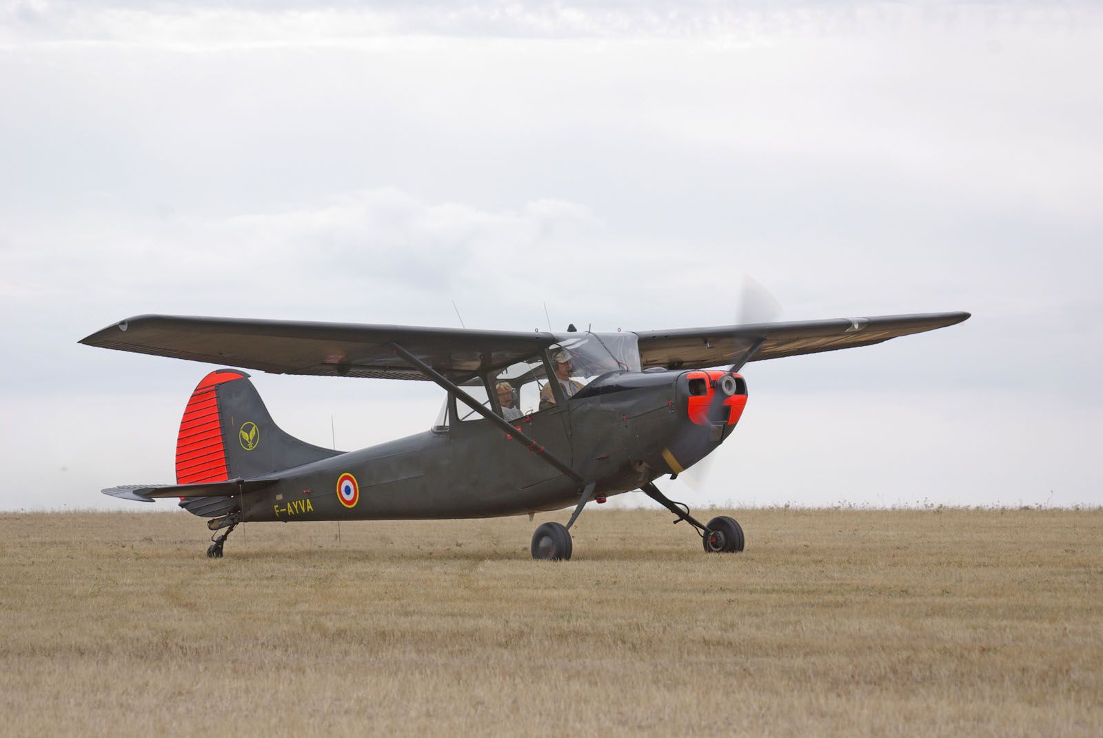 et le Cessna L-19 Bird Dog F-AYVA.