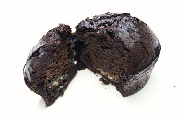 Moelleux au chocolat noir, coeur blanc