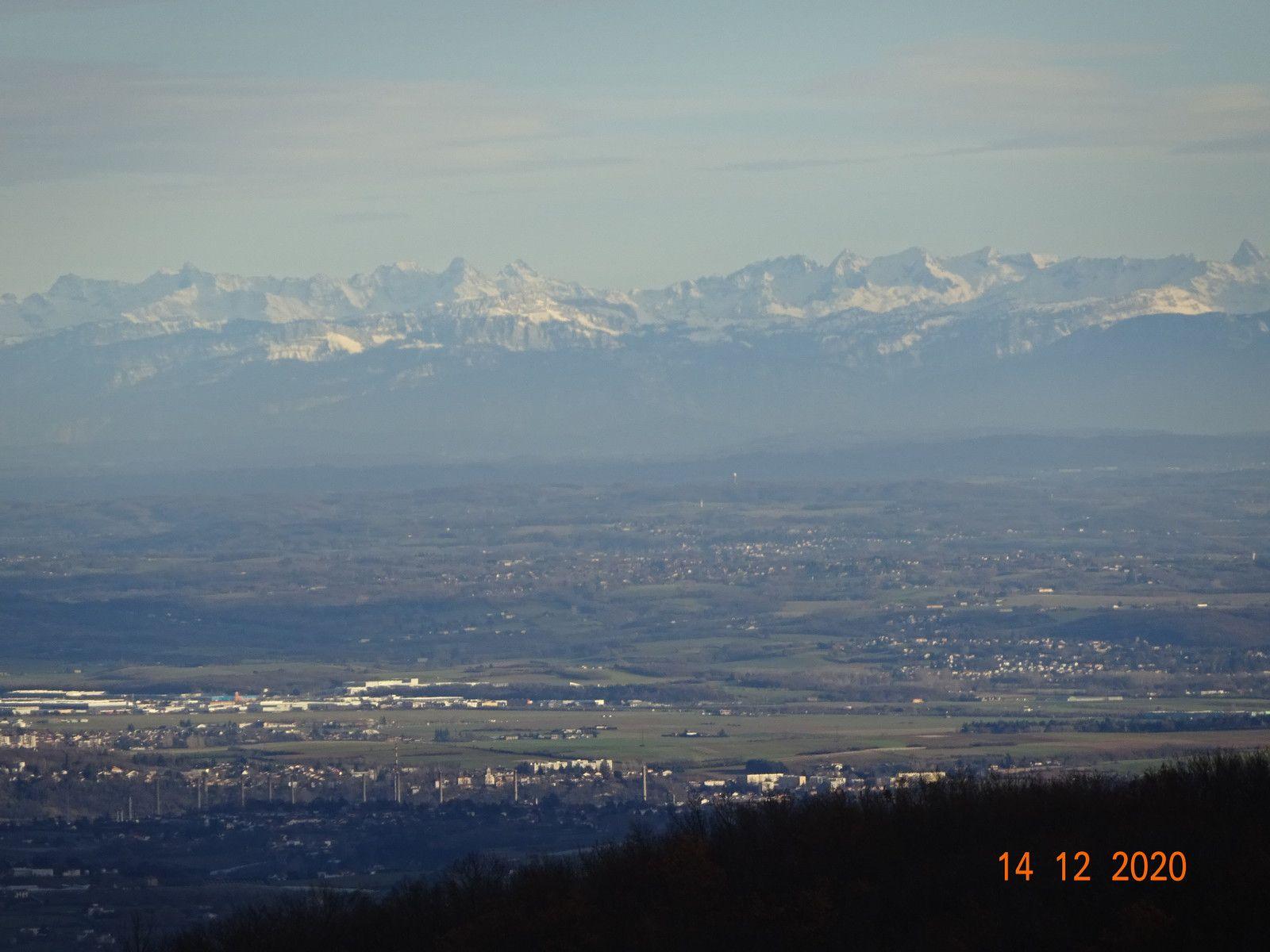 Une dernière photo destinée à Jean qui voulait voir les Alpes mais c'était lundi 14 décembre !!