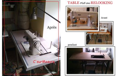 Brico : relooking table de ma pfaff 260.