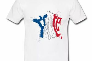 T shirt bleu blanc rouge France sur Carte tricolore HBL