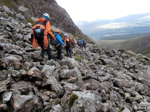 Ascension du Ben Nevis par Castle Ridge.