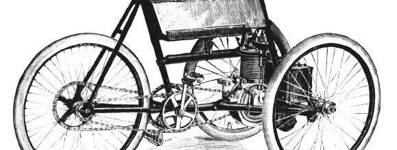 Gladiator 1895 : les secrets du tri à moteur avant et du quadri bicylindre à plat
