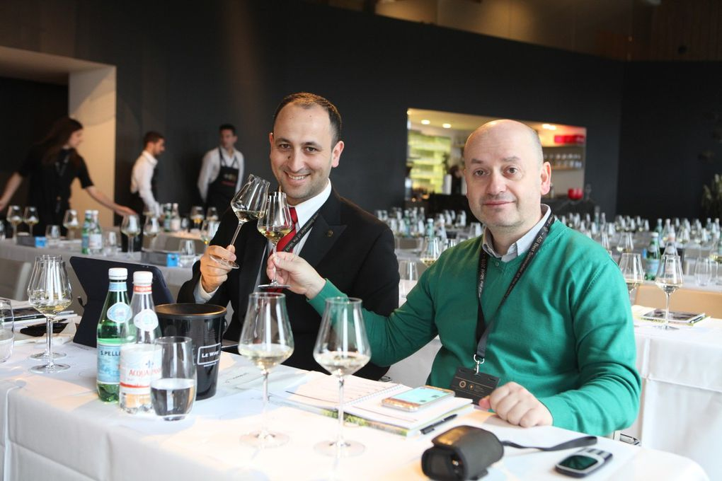 Première activité sur le thème des vins autrichiens. (Photos JB)