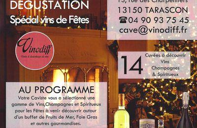 """Dégustation """"Spécial vins de fêtes"""""""