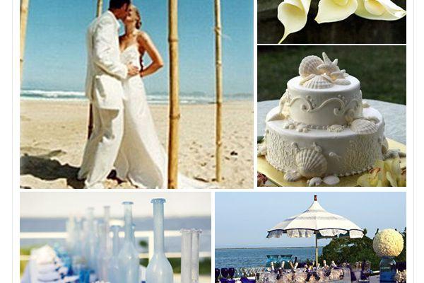 Un mariage à la mer, une déco de mariage nature